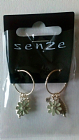 Senze flower/leaf hoop earrings (Code 2776)